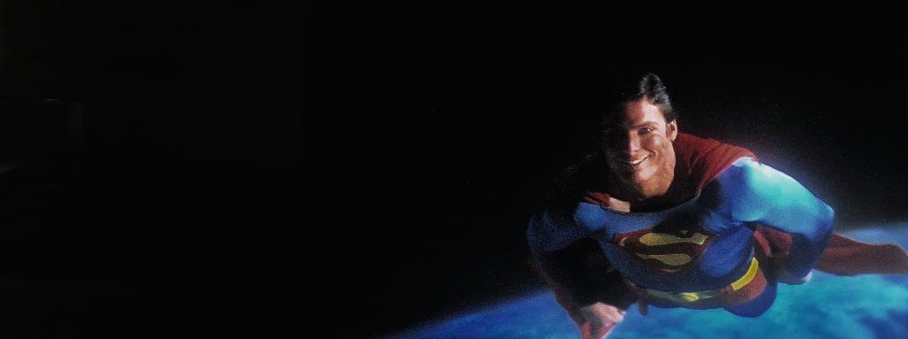 Christopher Reeve. Superman. (Warner Bros. 1978.)