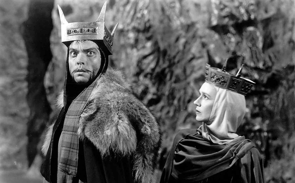 Jeanette Nolan y Orson Welles. (Macbeth. Republic Pictures. 1948.)