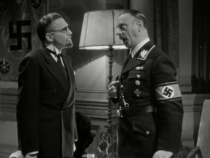 Stanley Ridges y Sig Ruman. (Ser o no ser. Romaine Film, Alexander Korda. 1942.)