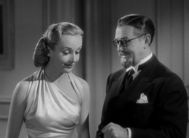 Carole Lombard y Stanley Ridges. (Ser o no ser. Romaine Film, Alexander Korda. 1942.)
