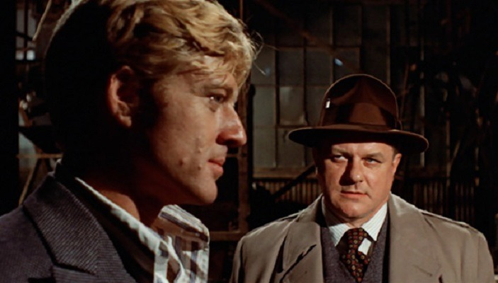 Robert Redford y Charles Durning. (The Sting. Universal Pictures, Zanuck/Brown. 1973.)