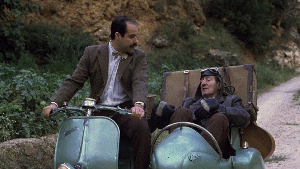 Luis Ciges y Antonio Resines. Amanece que no es poco. (CAC (Compañía de Aventuras Comerciales, TVE. 1989.)
