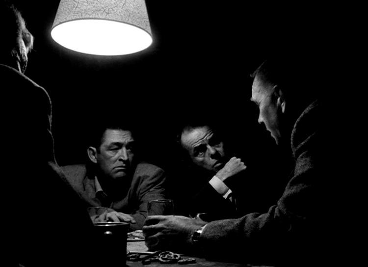 Sterling Hayden, Elisha Cook Jr. y Ted De Corsia . (The Killing. Harris-Kubrick Productions. United Artists. 1956.)