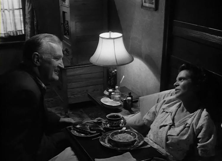 Joe Sawyer y Dorothy Adams. (The Killing. Harris-Kubrick Productions. United Artists. 1956.)