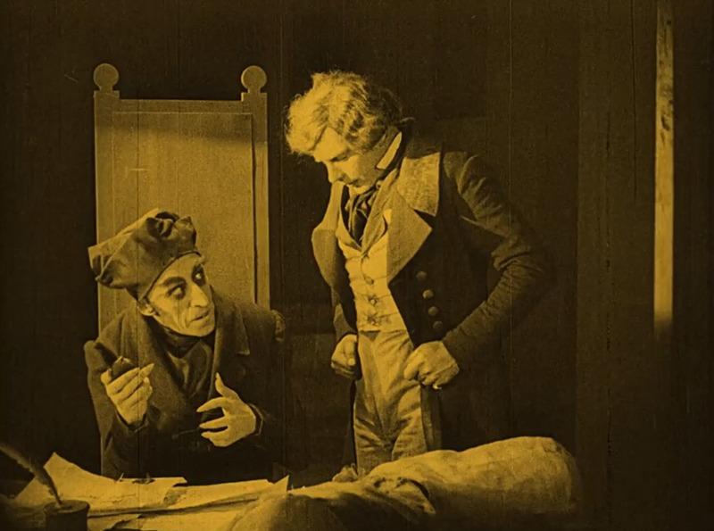 Max Schreck y Gustav von Wangenheim. (Nosferatu. Prana-Film GmbH. 1922.)