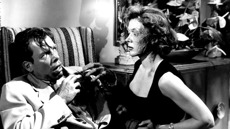 Gloria Grahame y Lee Marvin. (The big heat. Columbia Pictures. 1953.)