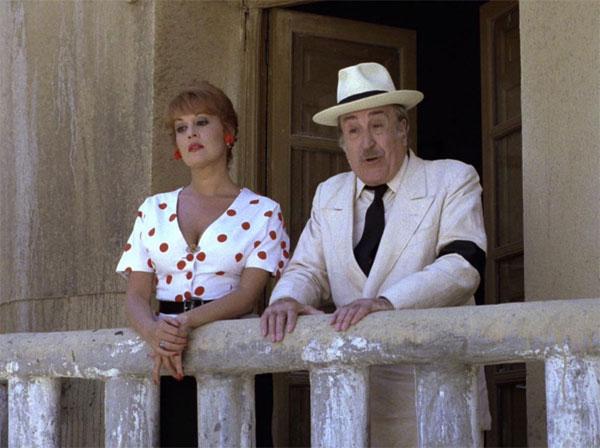 Fedra Lorente y Rafael Alonso. Amanece que no es poco. (CAC (Compañía de Aventuras Comerciales, TVE. 1989.)