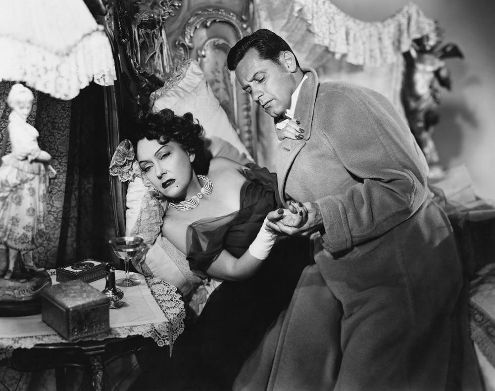 Gloria Swanson y William Holden. (Sunset boulevard. Paramount Pictures. 1950.)