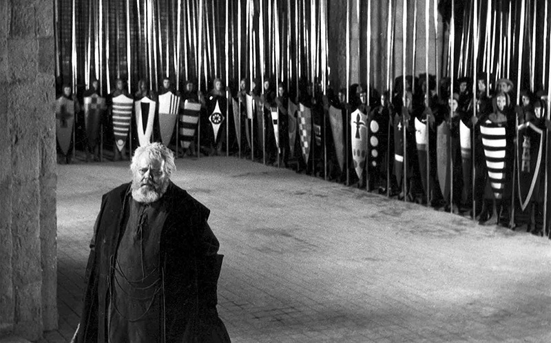 Orson Welles. (Campanadas a medianoche. Alpine Films, Internacional Films. 1965.)