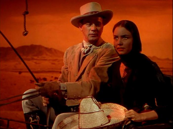 Jennifer Jones y Joseph Cotten. (Duelo al sol. David O. Selznick. 1946.)