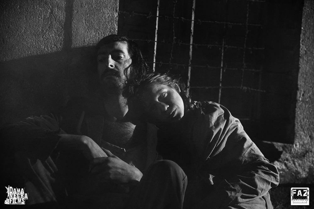 Eva Barreiro y Alfonso Míguez. (El rastro del cazador. Dama Negra Films. 2019.)