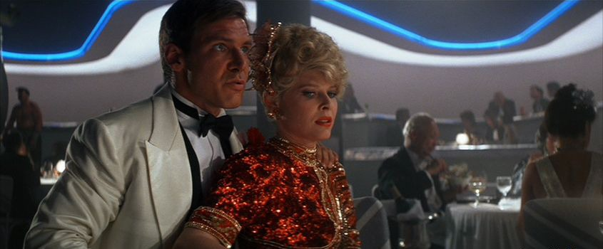 Harrison Ford y Kate Capshaw. (Indiana Jones and the temple of doom. Paramount Pictures, Lucasfilm. 1984.)