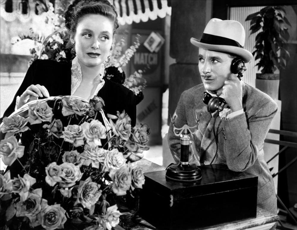 Barbara Slater y Charles Chaplin. (Monsieur Verdoux. United Artists, Charles Chaplin Productions. 1947.)