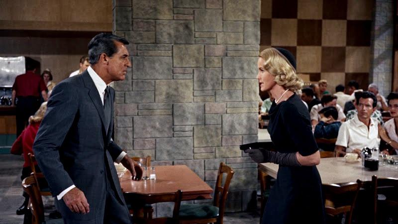 Eva Marie Saint y Cary Grant. (North by northwest. Metro-Goldwyn-Mayer. 1959.)