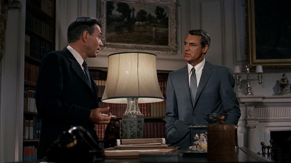 Cary Grant y James Mason. (North by northwest. Metro-Goldwyn-Mayer. 1959.)