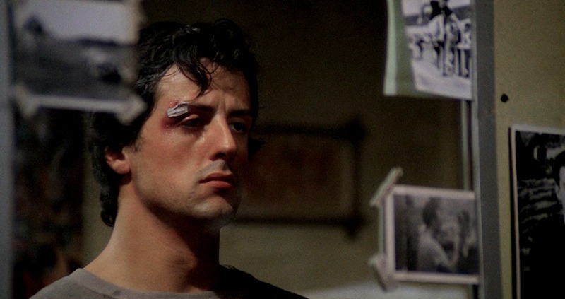Sylvester Stallone. (Rocky. Chartoff-Winkler Productions. United Artists. 1976.)
