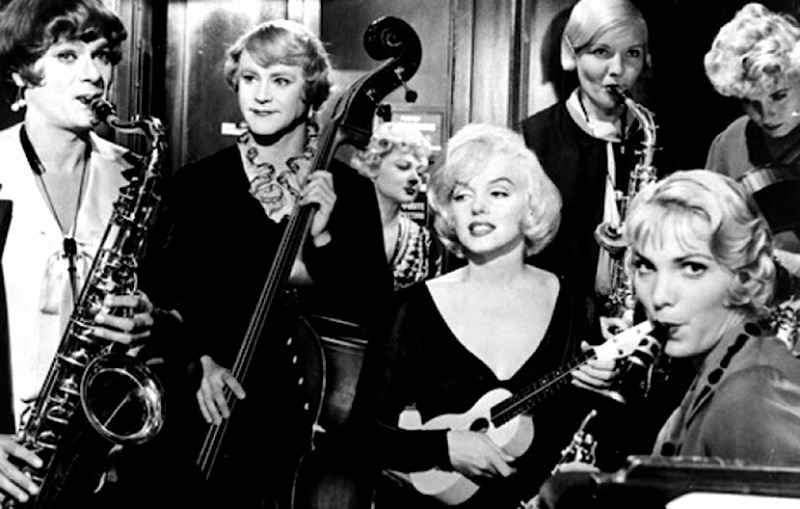 Marylin Monroe, Jack Lemmon y Tony Curtis. (Some like it hot. United Artists, Ashton Productions, The Mirisch Corporation. 1959.)