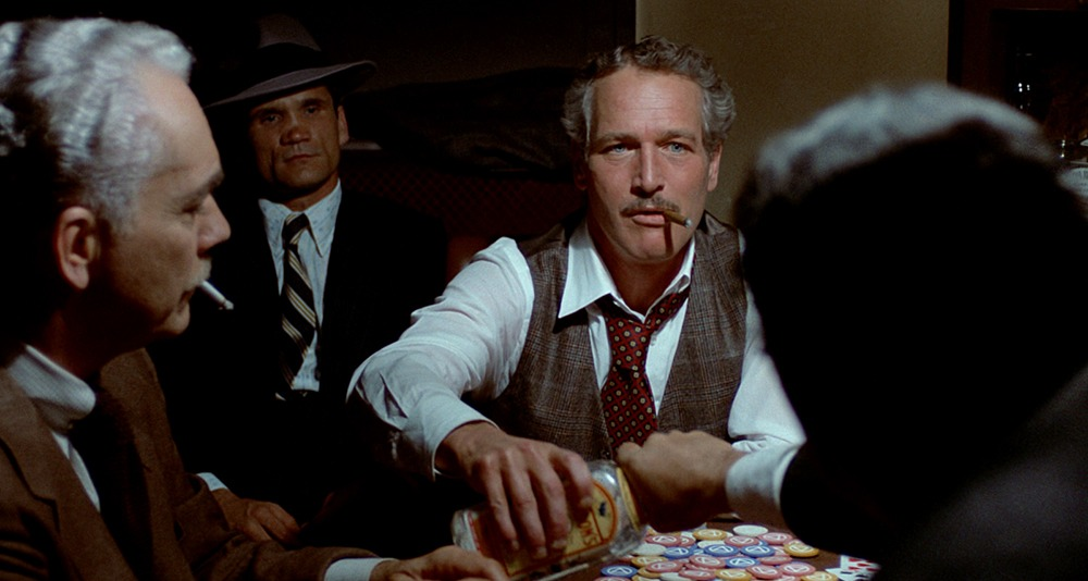 Paul Newman, Robert Shaw y Charles Dierkop. (The Sting. Universal Pictures, Zanuck/Brown. 1973.)