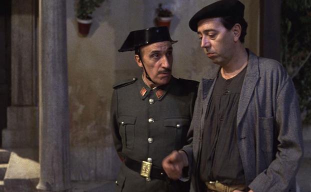 José Sazatornil y Miguel Rellán. Amanece que no es poco. (CAC (Compañía de Aventuras Comerciales, TVE. 1989.)