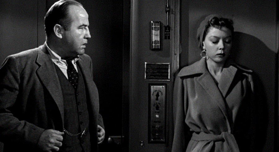 Gloria Grahame y Broderick Crawford. (Deseos humanos. Columbia Pictures. 1954.)