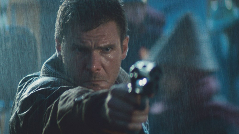 Harrison Ford. (Blade Runner. Warner Bros., Ladd Company, Shaw Brothers. 1982.)