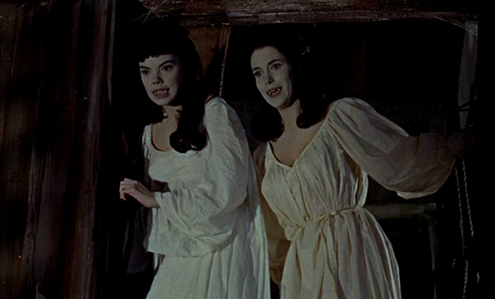 Andree Melly y Marie Devereux. (The brides of Dracula. Hammer Productions. 1960.)