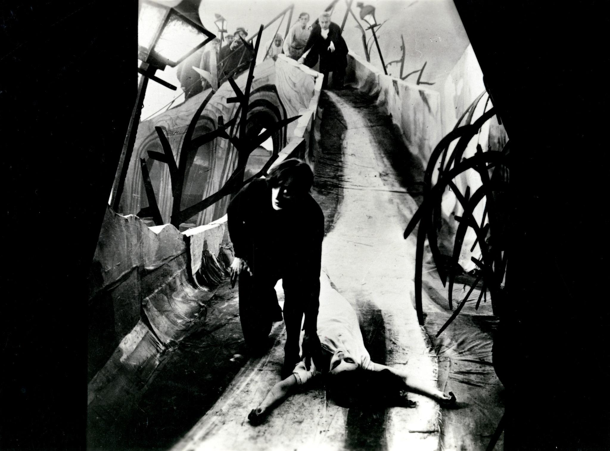 Lil Dagover y Conrad Veidt. (El gabinete del Doctor Caligari. Decla Film. 1920.)