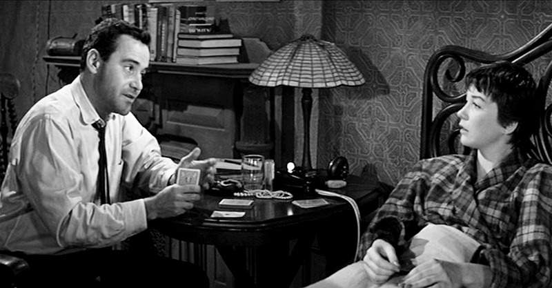 Shirley MacLaine y Jack Lemmon. (El apartamento. United Artists, The Mirisch Corporation. 1960.)