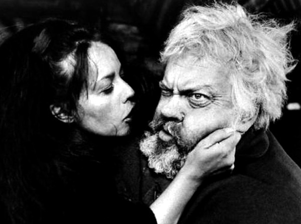 Jeanne Moreau y Orson Welles. (Campanadas a medianoche. Alpine Films, Internacional Films. 1965.)