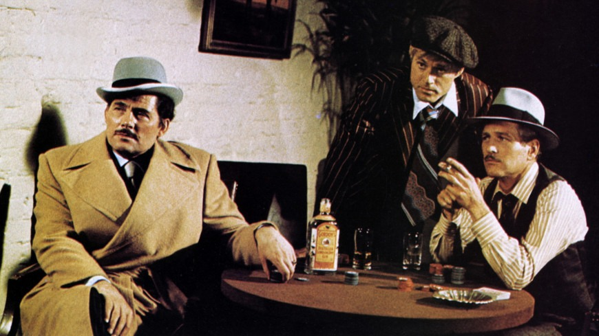 Robert Shaw, Paul Newman y Robert Redford. (The Sting. Universal Pictures, Zanuck/Brown. 1973.)