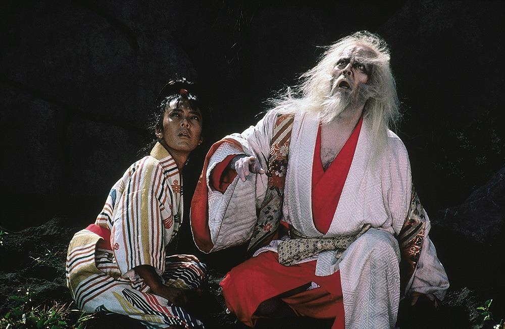 Tatsuya Nakadai y Pîtâ. (Ran. Greenwich Film Productions, Herald Ace, Nippon Herald. 1985.)