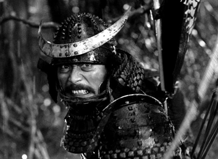 Toshirô Mifune. (Trono de sangre. Toho, Kurosawa Production Co. 1957.)