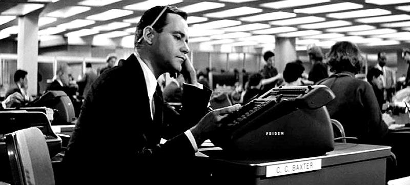 Jack Lemmon. (El apartamento. United Artists, The Mirisch Corporation. 1960.)