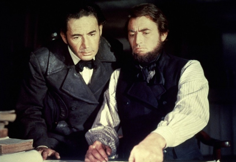 Leo Genn y Gregory Peck. (Moby Dick. Moulin Productions. United Artists. 1956.)