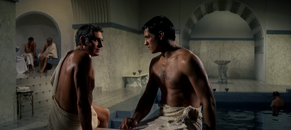 John Gavin y Laurence Olivier. (Espartaco. Bryna Productions, Universal Pictures. 1960.)