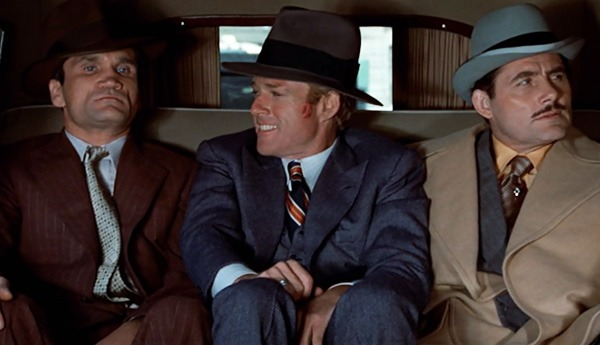 Robert Shaw, Charles Dierkop y Robert Redford. (The Sting. Universal Pictures, Zanuck/Brown. 1973.)