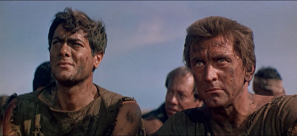 Kirk Douglas y Tony Curtis. (Espartaco. Bryna Productions, Universal Pictures. 1960.)