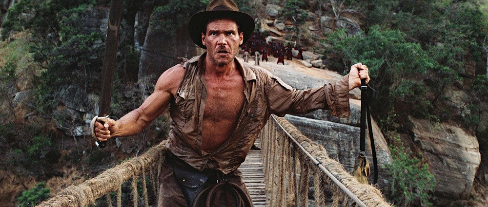 Harrison Ford. (Indiana Jones and the temple of doom. Paramount Pictures, Lucasfilm. 1984.)