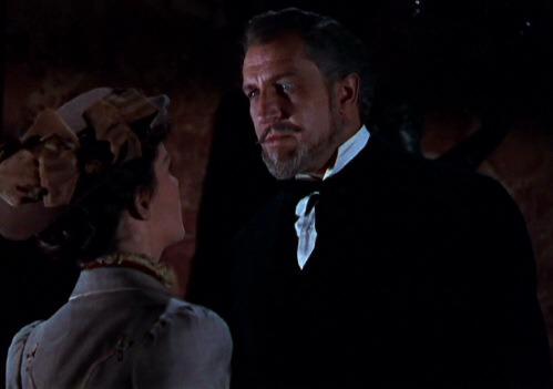 Vincent Price y Sue Allen. (House of wax. Warner Bros. 1953.)