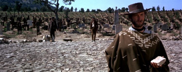 Clint Eastwood, Lee Van Cleef y Eli Wallach. (El bueno, el feo y el malo. Produzioni Europee Associati (PEA), Arturo González P.C, Constantin Film. 1966.)