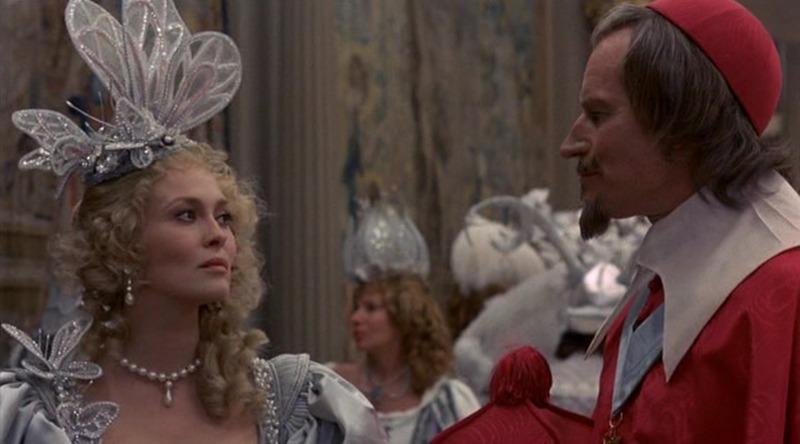 Faye Dunaway y Charlton Heston. (Los tres mosqueteros. Salkind Productions, Film Trust S.A. Este Films. 1973/1974.)