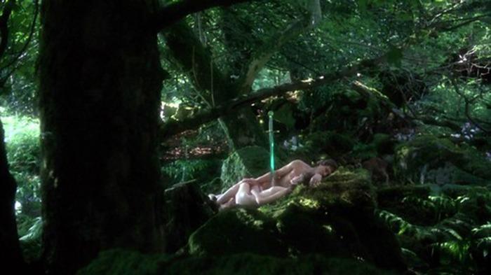 Nicholas Clay y Cherie Lunghi. (Excalibur. Orion Pictures, Warner Bros. 1981.)