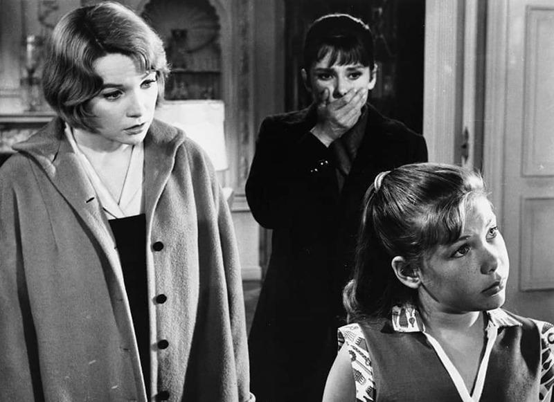 Shirley MacLaine, Audrey Hepburn y Karen Balkin. (The children's hour. United Artists. 1961.)