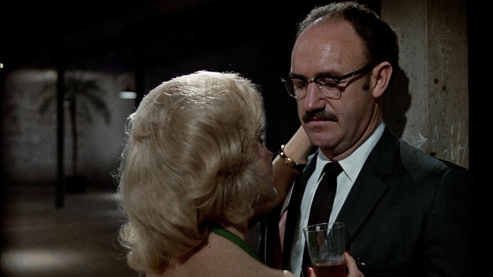 Elizabeth MacRae y Gene Hackman. (La conversación. American Zoetrope, The Directors Company, Coppola Co. Production, Paramount Pictures. 1974.)