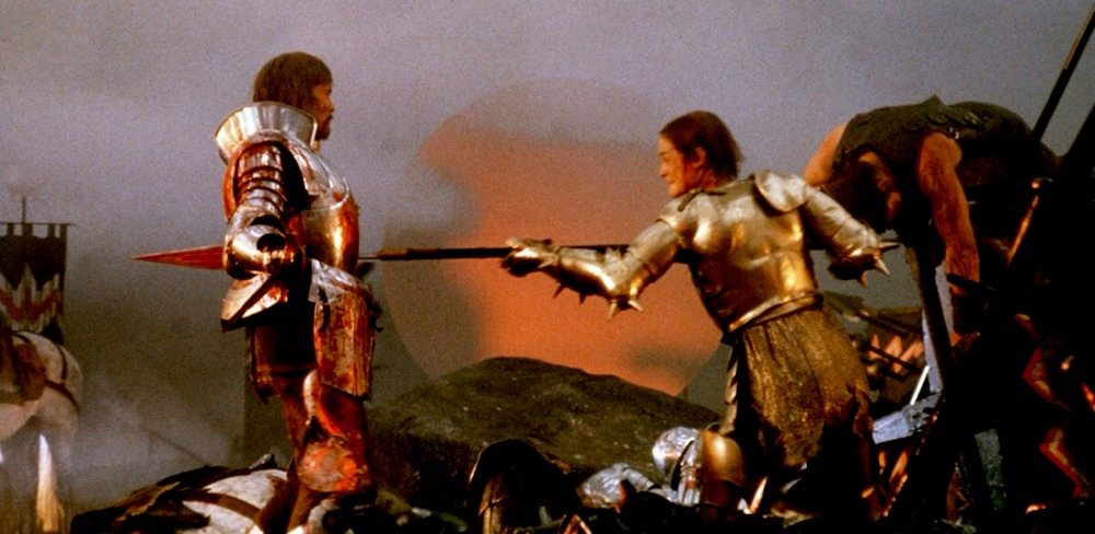Nigel Terry y Robert Addie. (Excalibur. Orion Pictures, Warner Bros. 1981.)