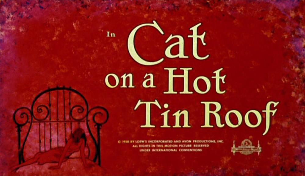 La gata sobre el tejado de zinc. (Avon Productions, Metro-Goldwyn-Mayer. 1958.)