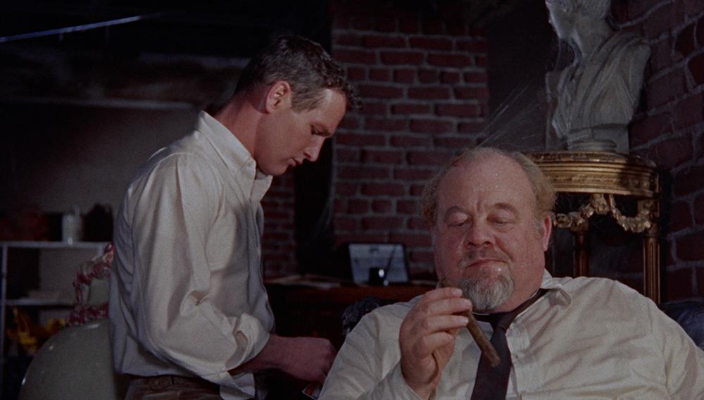 Paul Newman y Burl Ives. (La gata sobre el tejado de zinc. Avon Productions, Metro-Goldwyn-Mayer. 1958.)