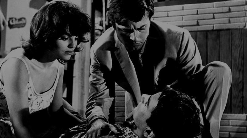Catherine Rouvel, Jean Sorel y Robert Hossein. (Chair de poule. Pans-Interopa, Société Nouvelle Pathé. 1963.)