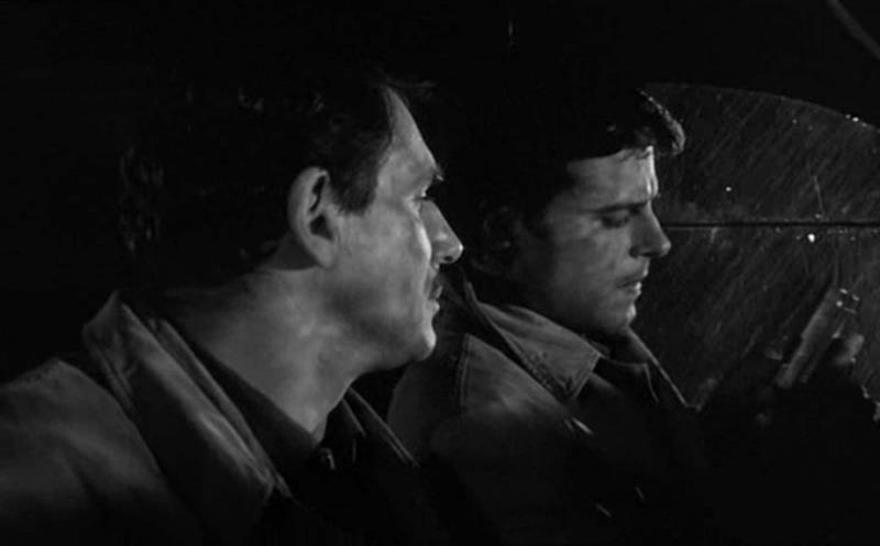 Jean Sorel y Robert Hossein. (Chair de poule. Pans-Interopa, Société Nouvelle Pathé. 1963.)