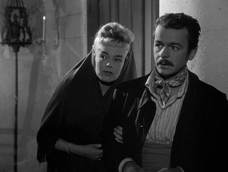 Simone Signoret y Serge Reggiani. (Casque d'or. Speva, Paris-Films Productions. 1952.)